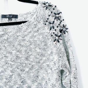 Fate by LFD Gray Jewel Sweater 254